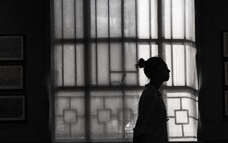 Silhouette Window People Drama Philippines Museum Curtain