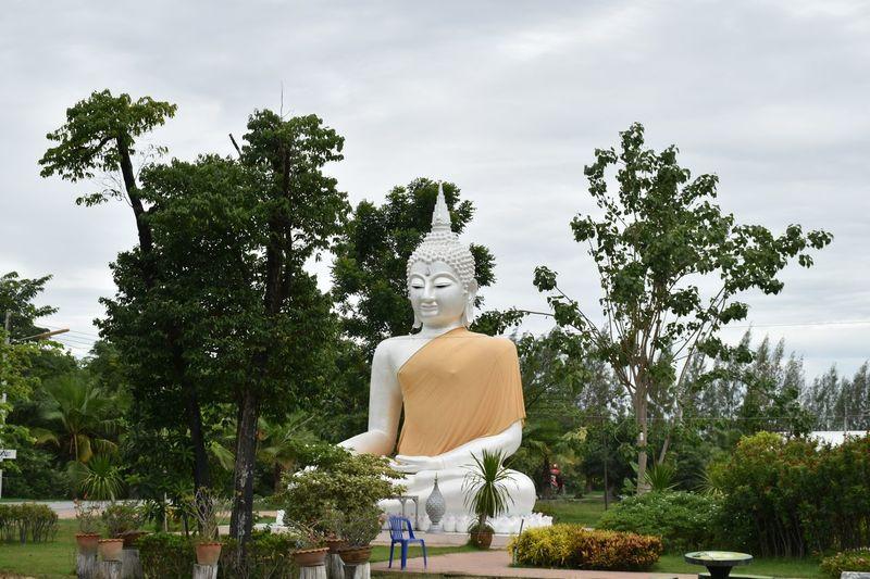 Buddha statue in trivisuttitham temple. suphanburi province. thailand.