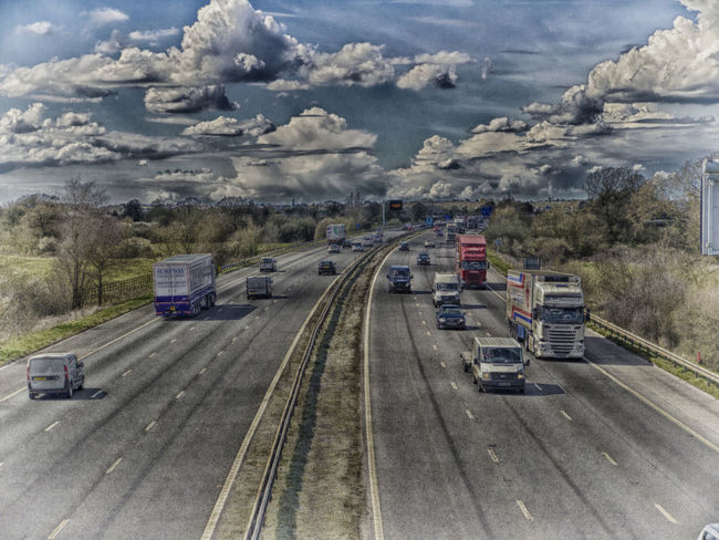 Clouds Daytime Filter Motorway Nik Collection Road Swindon Traffic