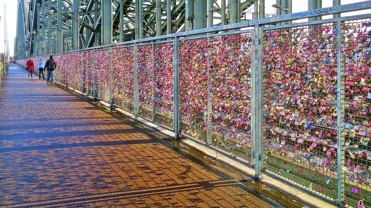 Cologne Day Detail Liebesschloss Hohenzollern-bridge, Cologne Hohenzollern-Brücke Köln Köln Liebesschloss Liebesschlösser Liebesschlösser Köln Love Locks Bridge Love Locks Cologne Lovelock Closeup Outdoors