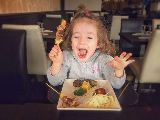 Childhood Child Food Real People One Person Food And Drink Lifestyles Indoors  Innocence Eating Portrait Mouth Open Girls Freshness Mouth