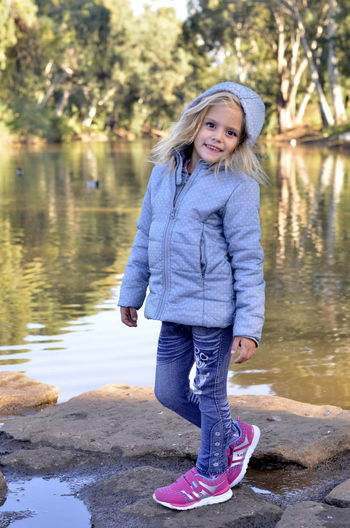 Water Child Portrait Smiling Lake Outdoors Happiness People Childhood Park Outside Photography Blonde Fall Colors Windy Winter Winter Day Israel Girl Nature Israeldaily Israelphotooftheday Israelinstagram Israel_only Kids Kidsphotography