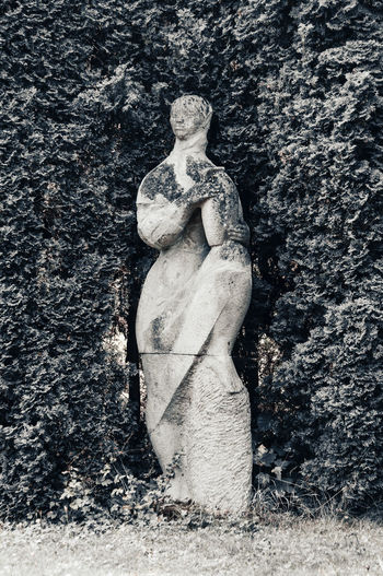 Sculpture of old statue