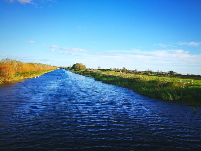 The local. Somerset, West Country Somerset Levels Uk Beauty In Nature Water Blue Sky Outdoors Landscape No People Cloud - Sky Autumn Alone Scenic