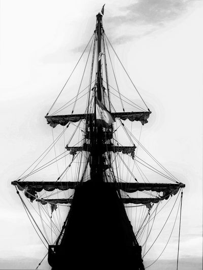 ( Ghost Ship 2 ) 2016 EyeEm Awards Day El Galeon 16th-17th Century Replica Ship In Port In Grand Traverse Bay For A Few Days Last Weekend. EyeEm EyeEm Best Edits EyeEm Best Shots EyeEm Gallery EyeEmBestPics Eyeemphotography Fine Art Photography Ghost Ship Grand Traverse Bay Haunted Hello World Low Angle View Mast No People Pure Michigan Ship Tall Ship My Best Photography & Artwork