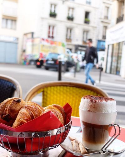 Parisian morning. Food And Drink Coffee - Drink Coffee Cup Croissant Cafe Paris, France  EyeEm Travel Destinations Travel Tourism France Travel Photography Europe EyeEm Best Shots