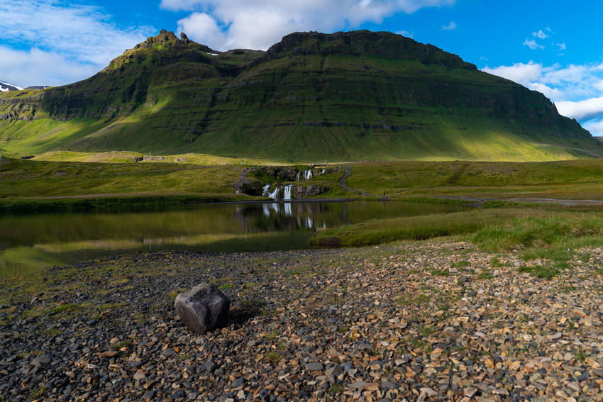 Kirkjufellfoss Backgrounds Beautifuliceland Beauty In Nature Cloud - Sky Day Environment Lake Land Landscape Mountain Mountain Range Nature No People Non-urban Scene Outdoors Reflection Scenics - Nature Sky Tranquil Scene Tranquility Water