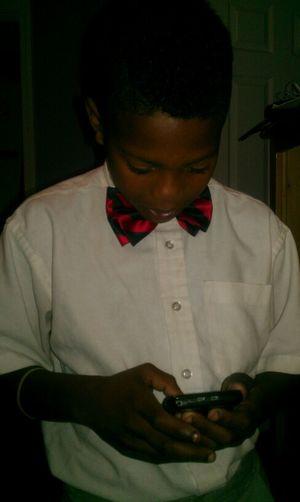 my la brotha look so cute wit his bow tie