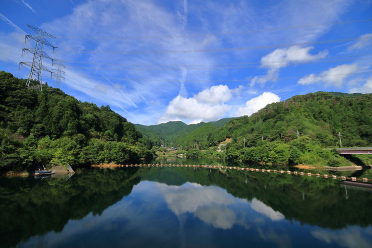 奈良県宇陀市宮奥 Blue Countryside Early Morning Lake Landscape Mountain Nature Outdoors Reflection Sky Sumer Water Colour Of Life