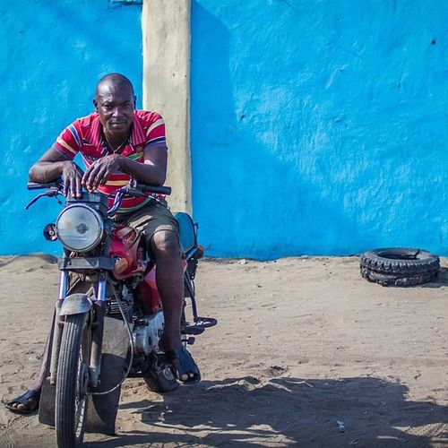 The city of red bikes! Lagos Nigeria Okada Africa streetphotography