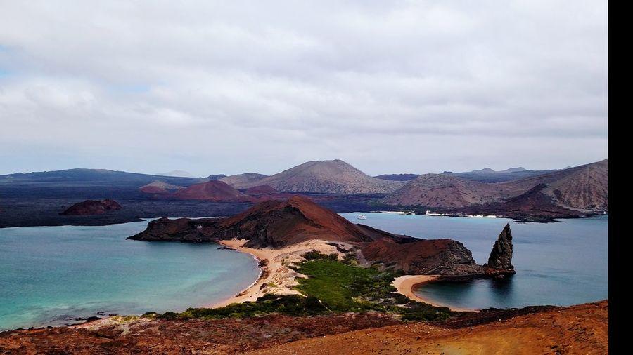 San Bartolomé Galapagos Galapagos Islands Water Mountain Lake Landscape Outdoors Cloud - Sky Nature