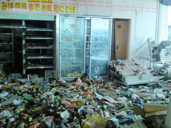 Convenience Store Disaster March 11 Tohoku Coast Tsunami Disaster Japan Tsunami Washed Up Natori-shi