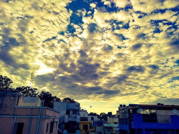 looked up at the sky Nature Drama Tic Sky Evening Sky Under The Clouds City Sunset Dramatic Sky Sky Building Exterior Cloud - Sky