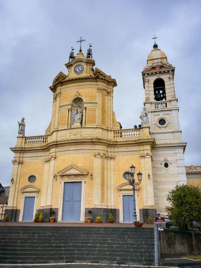 Belpasso Sicily Italy Travel Photography Travel Voyage Traveling Mobile Photography Fine Art Architecture Baroque Style Churches Steps Sky Clouds Mobile Editing