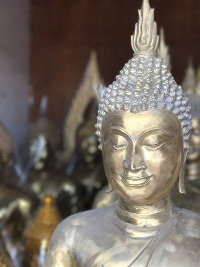 Bangkok Buddha Buddha Port Buddha Statue Buddhist Close-up Cultures Day Gold Colored Golden Buddha Idol No People Outdoors Religion Sculpture Shallow Depth Of Field Statue
