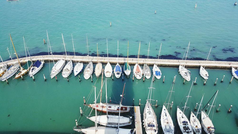 The docks. Venezia Boats⛵️ Water Dockside Sail Away, Sail Away Fishermen Waves, Ocean, Nature Organized Enjoying Life Check This Out Italy❤️