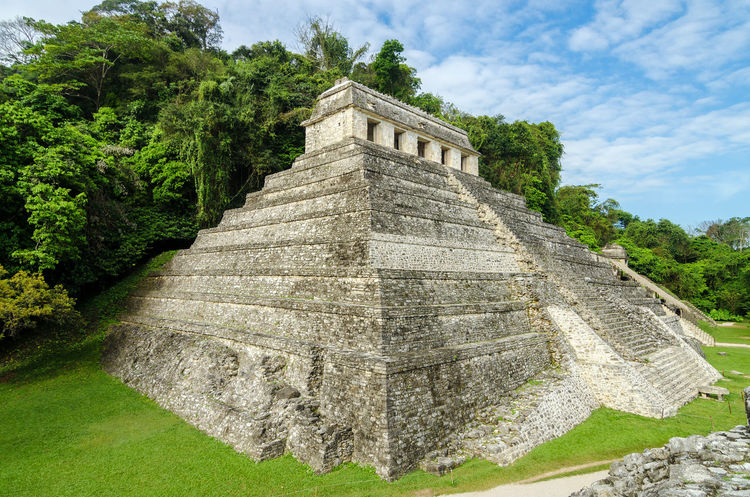Temple of Inscriptions, the most important temple in the ancient Mayan city of Palenque America Ancient Archeology Beautiful BIG Building Chiapas Chiapas, México Forest Heritage History Jungle Landscape Maya Mayan Mexico Old Palenque Pyramid Religion Ruin Stairs Stone Temple Unesco
