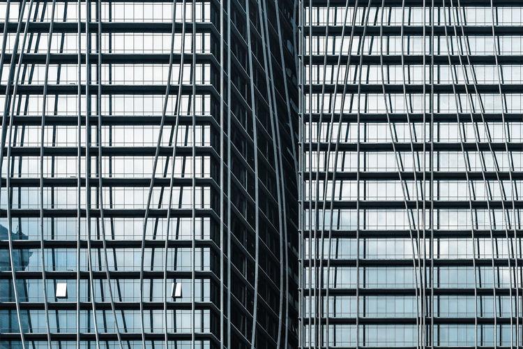 Full frame shot of modern buildings