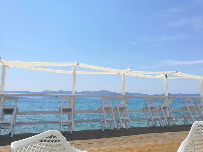 Beach Blue Sky Zadar Nature