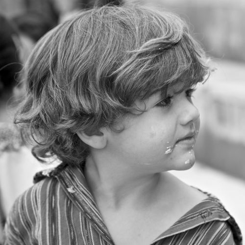 Cake on face Headshot Real People Child Portrait One Person Childhood Contemplation Human Face Hair Innocence