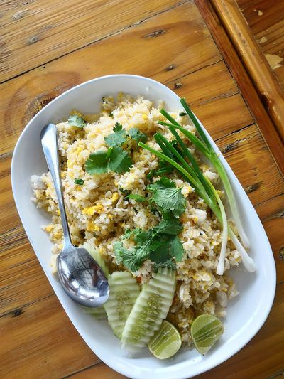 Food And Drink Food Freshness High Angle View Indoors  Ready-to-eat Healthy Eating No People Table Plate Close-up Vegetarian Food Day Hdr Edit Thai Food Macro Photography Food And Drink Fried Rice