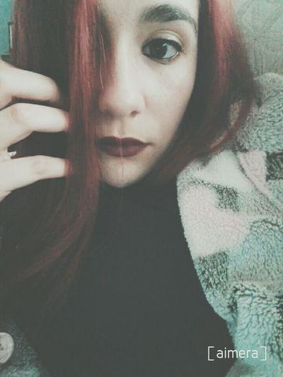 Fashiongirl  Tumblrgirl Lipstick Tumblr Fashion Make Up Girltumblr Enllamas Pelirroja Girl Selfie