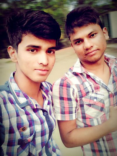 ______________! Looking At Camera Two People Boys Friendship Nature