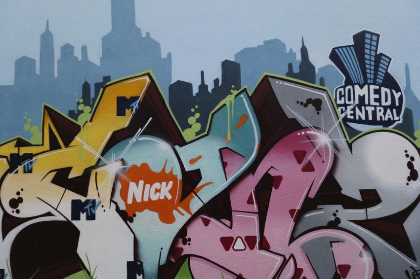 Graffiti an der Fernsehwerft Berlin Berlin Mitte Berlin-Mitte Comedy Central  Deutschland Fernsehwerft Germany Graffiti Nickelodeon Street Art
