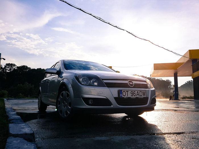Car Sky No People Outdoors Day Opel Opel Astra Rain Street Fuel Light