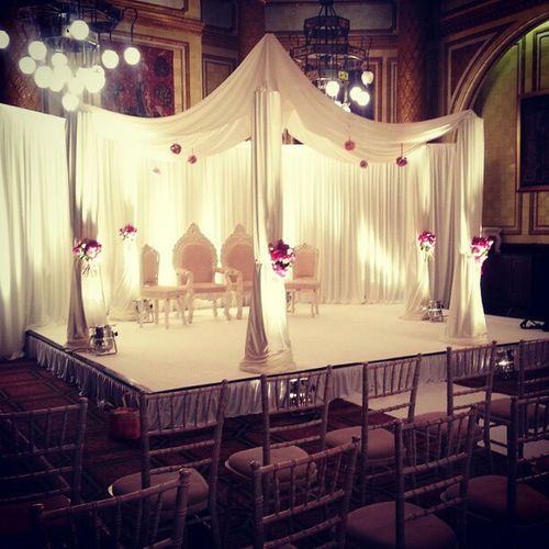 Onewhitehallplace Wedding Asian  Hindu Gujurati Mandap Pinkandwhite Flowers Happyday London Central Coldday Sunday 24february2013