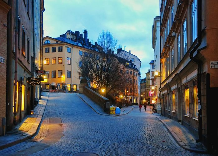 Architecture Illuminated Outdoors Night No People Building Exterior Sky Built Structure Stockholm Gambla Stan City Sweden Schweden Svenska Latern Urban Skyline Sunset
