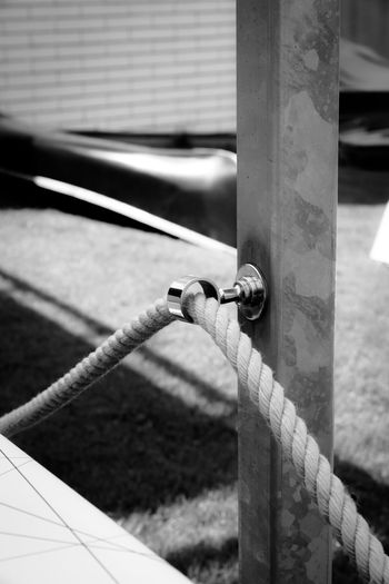 A restful moment Blackandwhite Photography Monochrome Abstract Art Fineartphotographer LINE Rope Focus On Foreground Outdoors Close-up No People