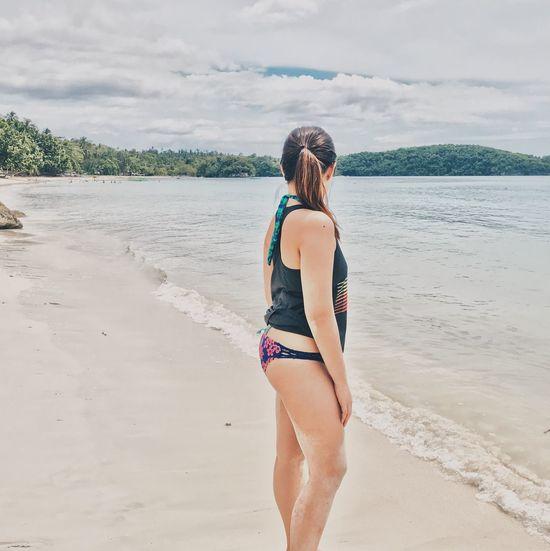 looking back EyeEmlights Eyeemphotography EyeEmPhilppines EyeEmNewHere Beach Sea Sand Nature Sky Beauty In Nature Lifestyles Day Shore Outdoors Water Bikini