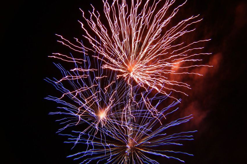 Happy 4 th of July Firework Display Celebration Firework - Man Made Object Night Exploding Long Exposure Sparks Low Angle View Arts Culture And Entertainment Event Glowing Illuminated Motion No People Blurred Motion Firework Sky Multi Colored Outdoors Capture The Moment Independence Day 4th Of July Happy 4th Of July