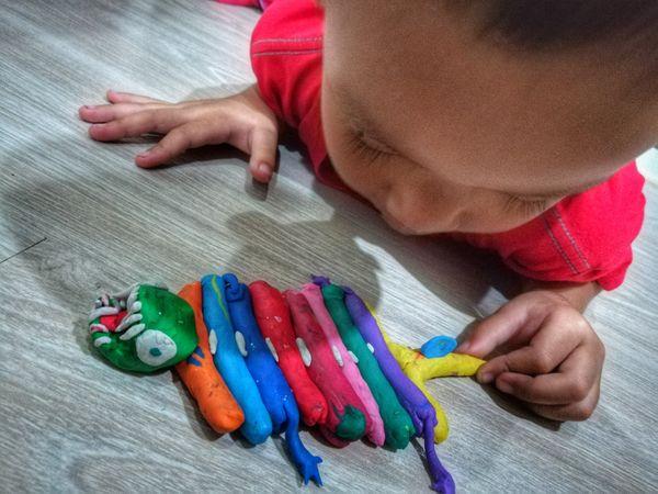 Play dough.. Multi Colored Toy ปั้นดินน้ำมัน Molding Clay Clay Clay Art Boy My Son Child EyeEm Gallery Eyeemthailand Huaweiphotography Imagination