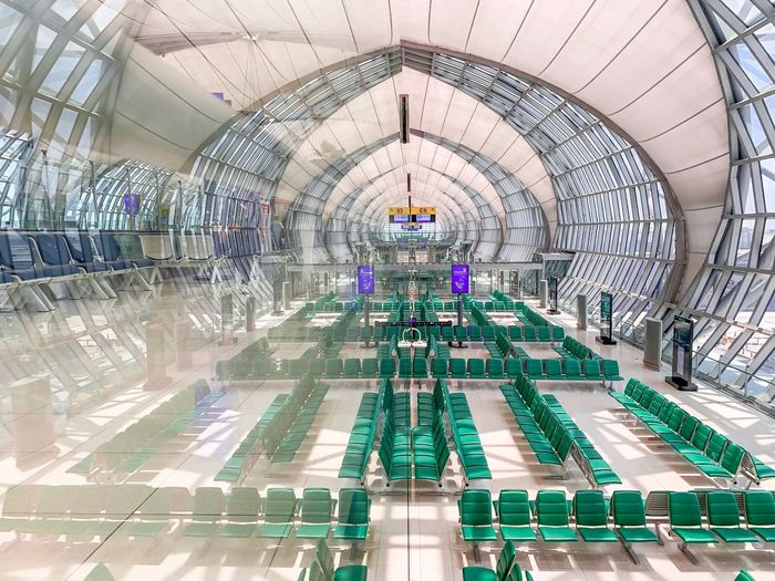 Bangkok airport Airport Bangkok Airport Bangkok Architecture Built Structure Ceiling Indoors  Day No People Decoration Building Pattern Flooring Travel Destinations Art And Craft