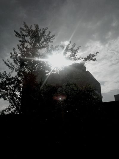 Sun showing its face to the rain :)) Nature Raining Again Clouds And Sky Harlem