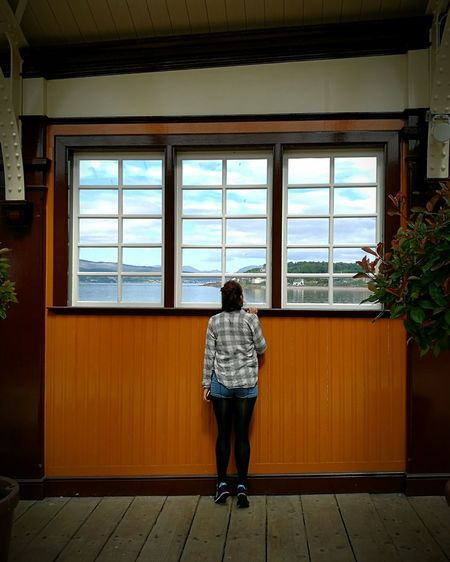 Travel Feel The Journey Wemyss Bay Train Station Curiosity Curious Peeking Peeping Window Original Experiences Showcase