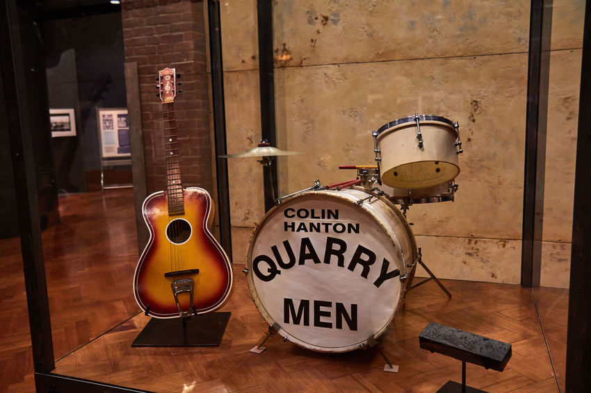 2016 Acoustic Guitar Colin Hanton Drums Henry Ford Musem Museum Music Quarry Men Rock And Roll The Beatles The Magical History Tour Vintage