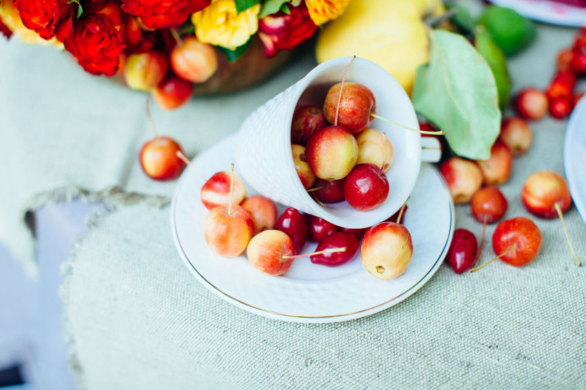 Cherries Cherry Natural Summertime Food Food And Drink Fresh Freshness Fruit Healthy Eating Merry Plate Still Life Summer Table