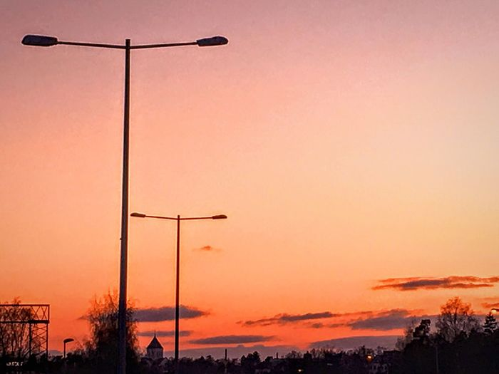 'Highway Nostalgia' Street Light Sunset Lighting Equipment Sky No People Nature Electricity  Outdoors Low Angle View Scenics Beauty In Nature Illuminated Alternative Energy Day Oslostreets Urbex Eyeem Streetphotography Wintertime Cold Day Cold Winter ❄⛄ Freezing SO COLD Cold Weather Oslo 2017 KariJosefiné✨
