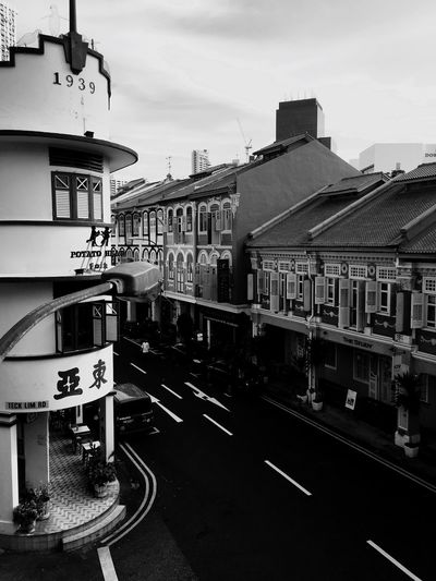 Chinatown Chinatownsingapore Nostalgic  Oldbuilding Photography Traditional House Buildings & Sky Photographic Memory Classic Blackandwhite
