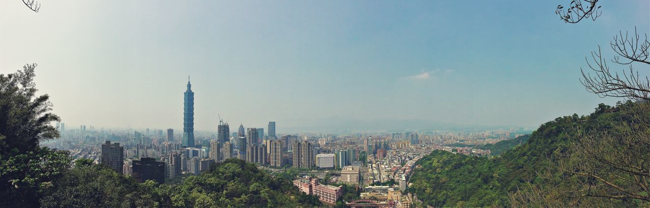 Taiwan Landmark 101 Taipei Sunnyday Mountain City Landscape Landscape_Collection