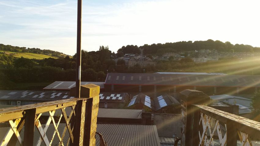 I Love My City it's my home. View Sunset Glitch Bridge Buildings Hills Happyvalleysowerbybridge Landscape Industry