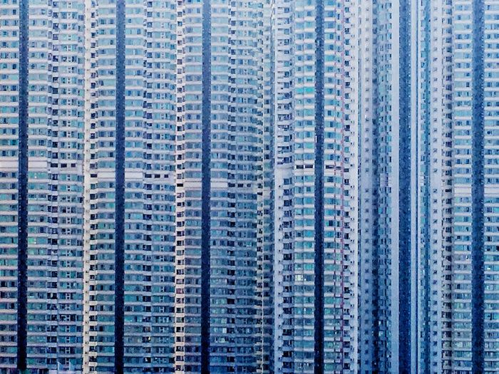 IPhoneography Backgrounds Architecture Apartment City Group Of Objects Blue In A Row Cityscape Skyscraper Cement Built Structure Abstract Inspiration Business Finance And Industry Architecture Excess Explorer No People Luminosity Cultures Outdoors HongKong