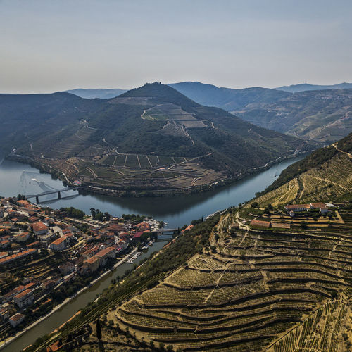 Douro  Agriculture Architecture Beauty In Nature Day Field Growth High Angle View Landscape Mountain Mountain Range Nature No People Outdoors Rice Paddy Rural Scene Scenics Sky Terraced Field Tranquil Scene Tranquility Vineyard Water