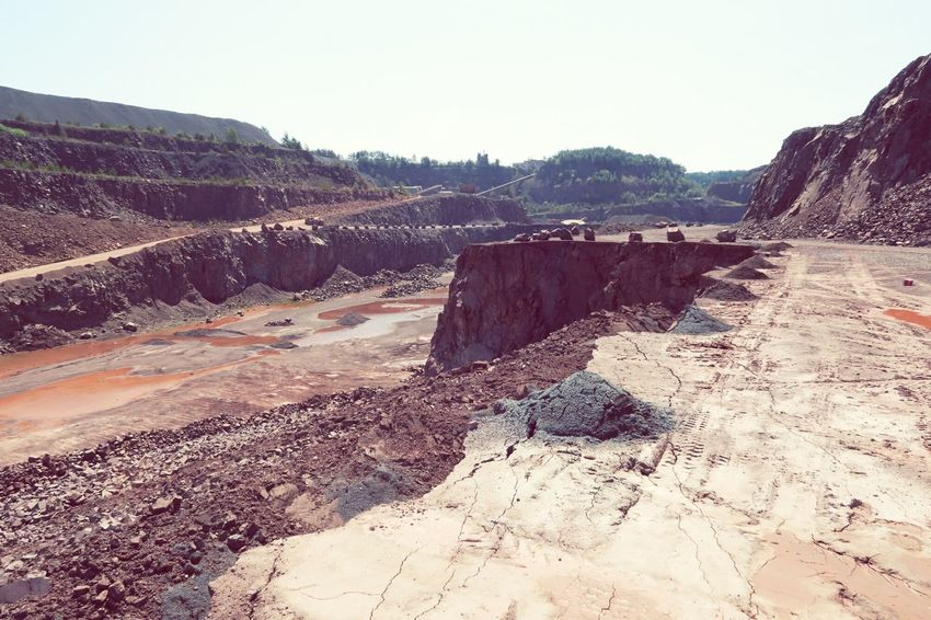 Quarry mine for porphyry rocks. Surface Mine Surface Mining Cracked Cracked Ground Rock Formation Mining Heritage Mining Pit Mining Industry Mine QuarryRock Quarry Rock Quarry Mining Dont Cross It