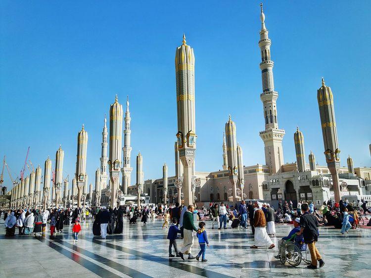 Madinah Nabawi Mosque Saudi Arabia Mosque Umbrella Travel Tour