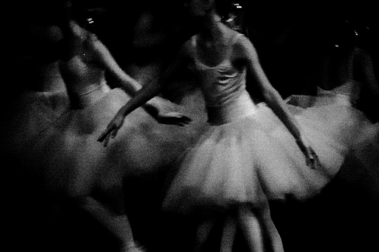 Ballet dancers dancing on stage