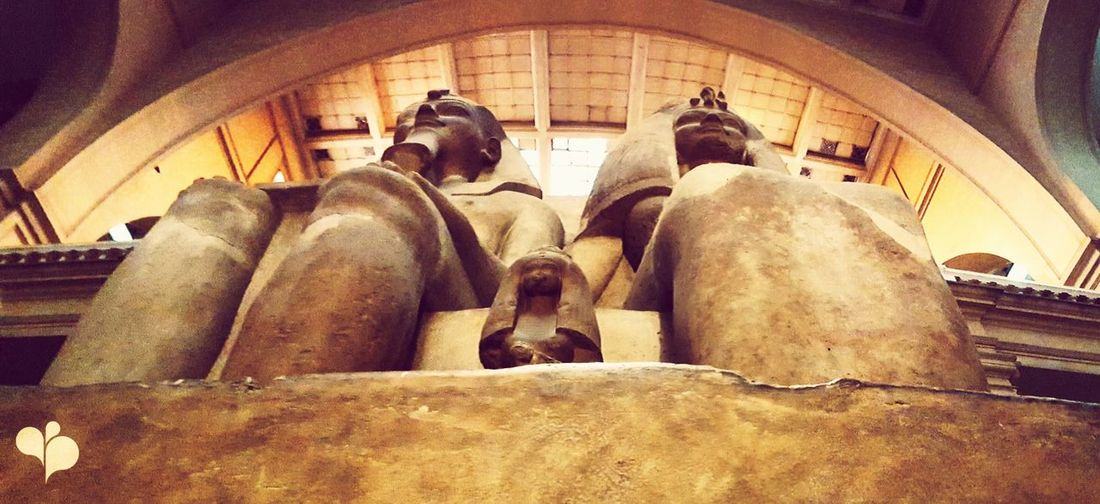 The Royal Family 👑 Indoors  Statue Low Angle View Day History Historic Building Retail  No People Pharaoh Architecture Egypt Royal Family